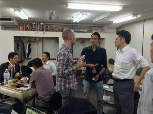 2013/09/18 銀座ファミリー麻雀教室での交流会の様子