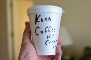 高橋果実店 コナコーヒーのアイス