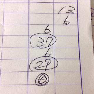 記録用紙に時間で終わったトップの丸の記入例