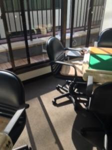 2014_10_08 銀座ファミリー麻雀教室 窓側の麻雀卓