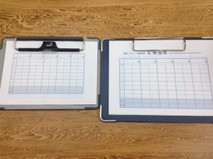 麻雀記録用紙サイズ比較