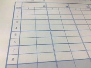 麻雀記録用紙 2回ごとに太線