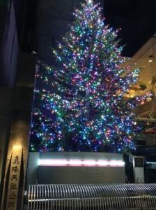 銀座クリスマス2014 ミキモト ツリー 02