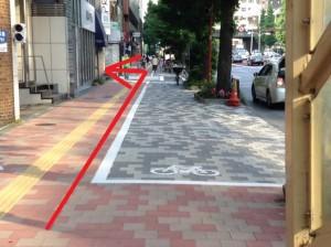 銀座さとう 昭和通り歩道橋を過ぎた交差点