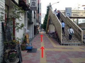 銀座さとう 昭和通り歩道橋を過ぎる