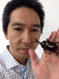 カブトムシとマサヒロ 2015-07